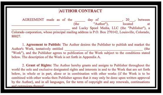 Lucky Spool Author Contract