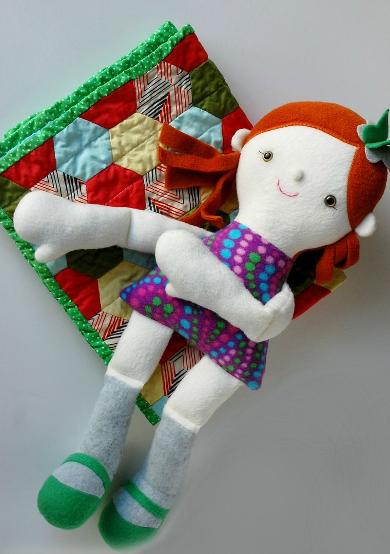 Doll on Doll Quilt