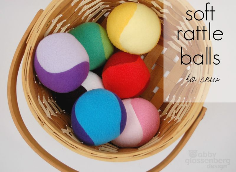 Soft Rattle Balls to Sew Cover