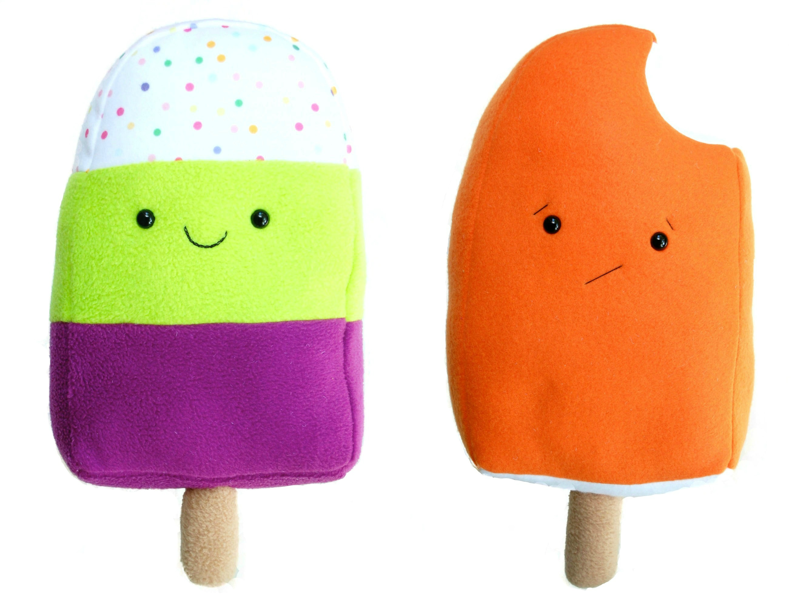 Plus Popsicles White Background