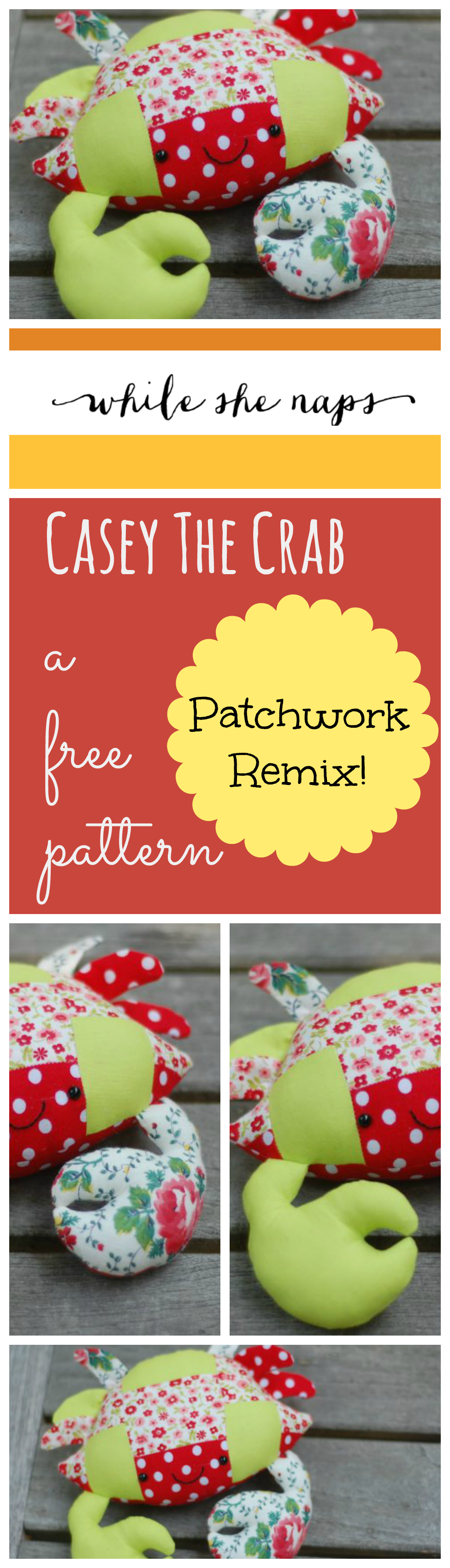 Patchwork Crab Free Pattern