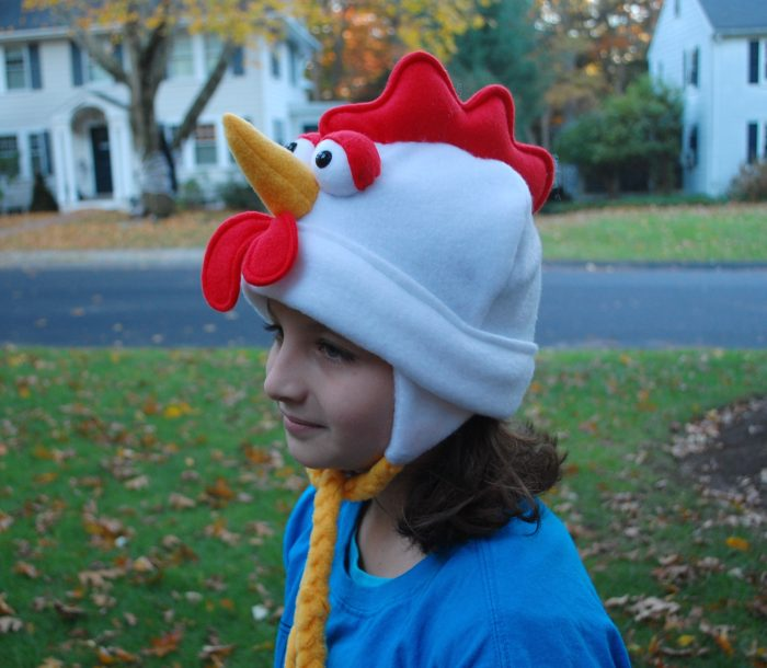 Rooster hat from Fleece Hat Friends by Mary Rasch