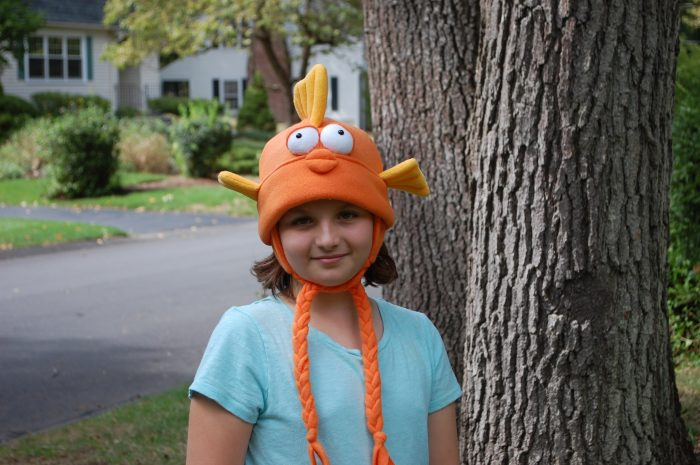 Fleece Hat Friends Goldfish Hat