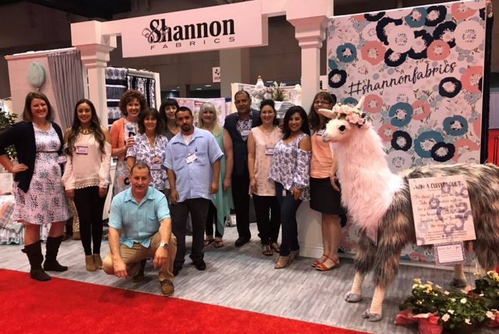 Shannon Fabrics at spring quilt market