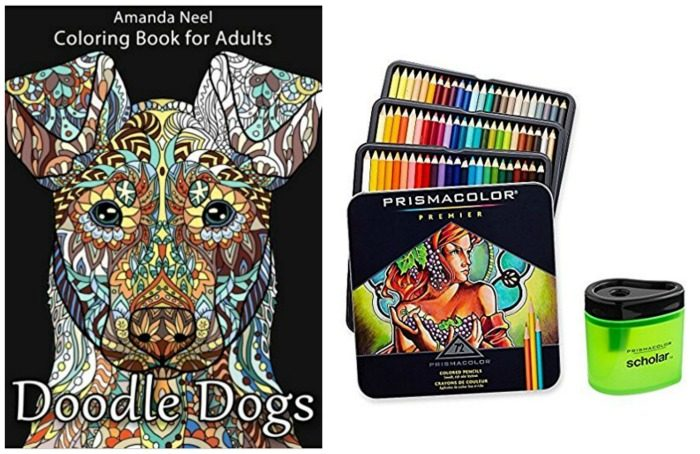 Doodle Dogs And Colored Pencils Coloring Book For Adults By Happy Amanda Neel