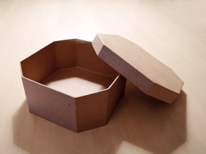 The plain papier maché box
