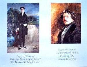 Delacroix's self-portrait and my favourite painting by him of Baron Scwiter-