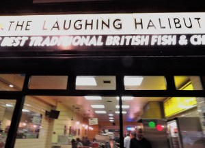THE LAUGHING HALIBUT IN STRUTTON GROUND