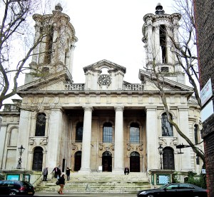 The entrance to St John's in Smith Squarae Sw1P 3HA