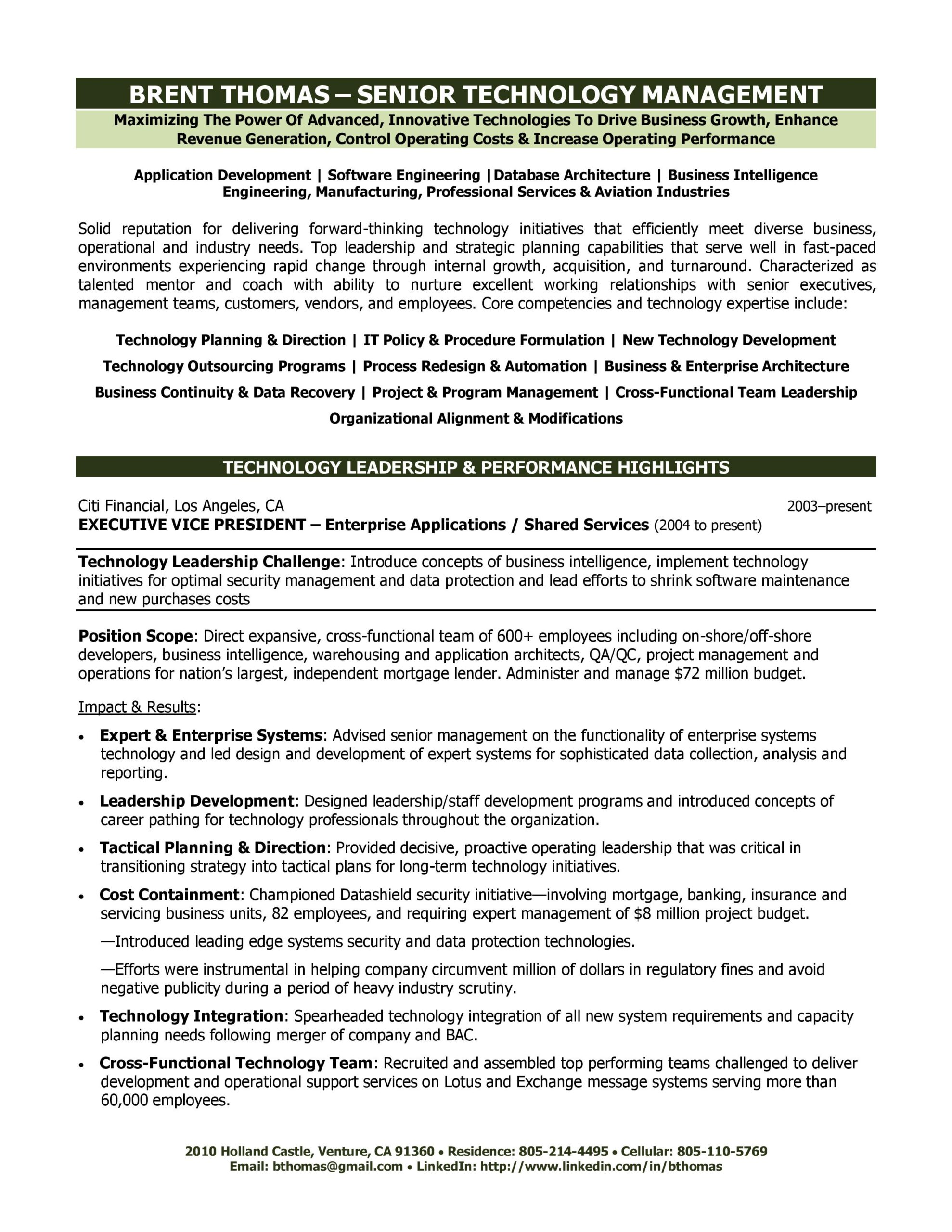 Supervisor Resume Examples 2012 Collection Executive Resume Resume Ideas