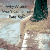 Why Wisdom Won't Come from Being Right