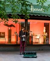 Outside Harrods.