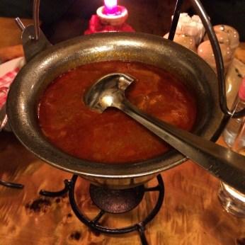 Halaszle Bogracsban (Fish soup)
