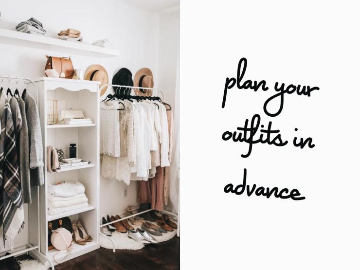 outfit planning, closet organization