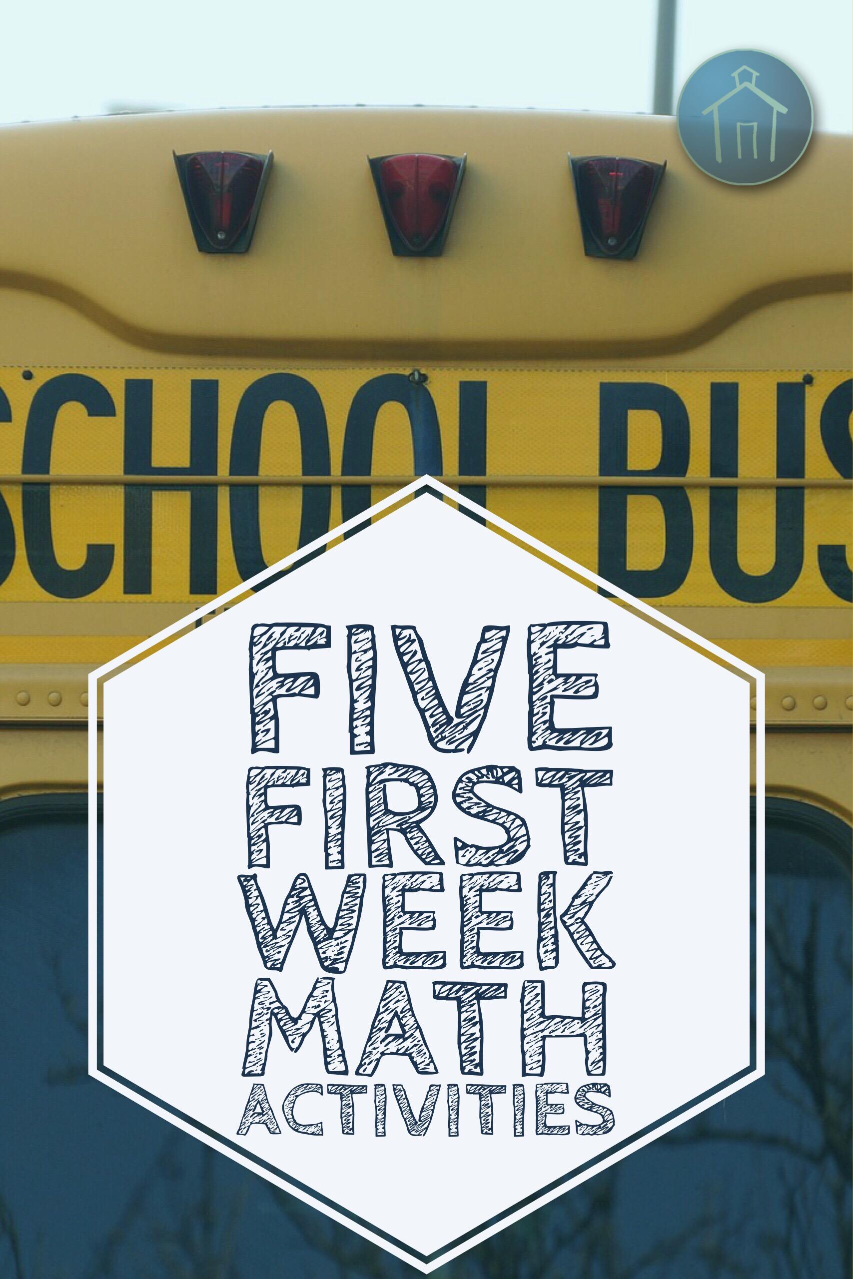 5 Beginning Of The School Year Math Activities Abby S