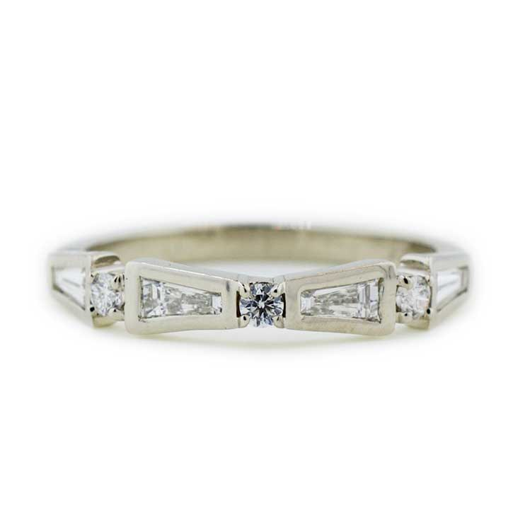 Tapered Baguette Wedding Ring  Abby Sparks Jewelry