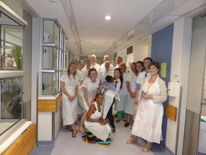 ABC bike and hike challenge - The group visits the hospital on the last day.