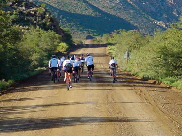 ABC bike and hike challenge - A group of bikers