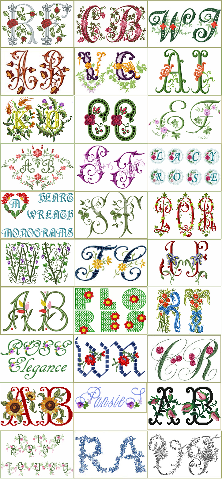 Download 30 Sets of Floral Fonts and Alphabets