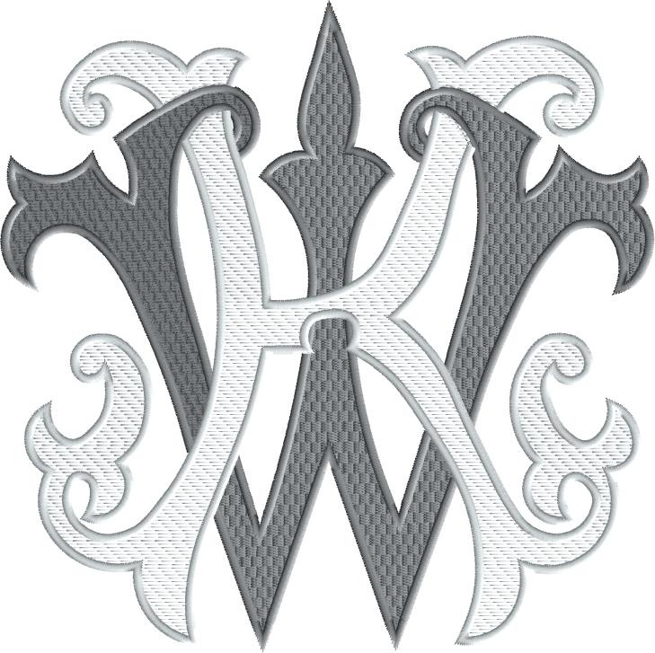 two initial monogram