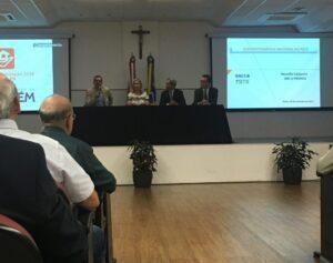 Participaram da mesa o superintendente nacional da CAIXA, Sergio Antônio Gomes, e o diretor executivo de Habitação da CAIXA, Paulo Antunes. Foto: Arquivo ABC