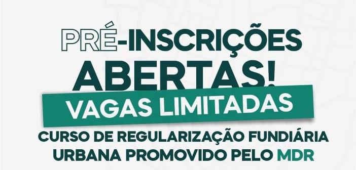 MDR promove curso on-line e gratuito sobre regularização fundiária