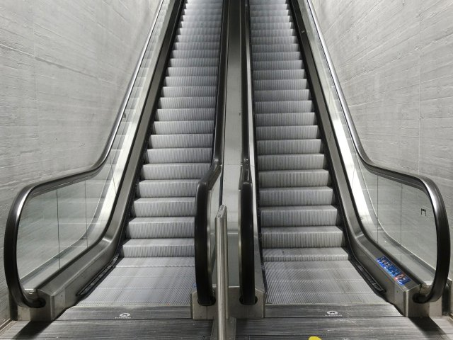 escalator ups and downs