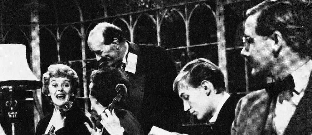 Barbara Couper, Paul Curran, Geoffrey Whitehead and Fulton Mackay in Armchair Theatre's 'A Little Night Music'
