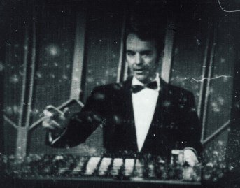 Demonstrating Didsbury's wizzy new vision mixing desk in 1966