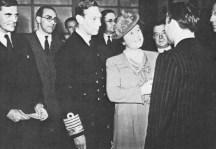 US Ambassador John G Winant, Howard Thomas, HM King George VI, George Tomlinson MP, HM Queen Elizabeth, Joe Loss