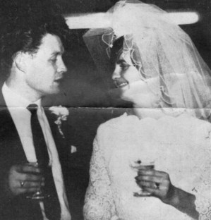 GLORIA HARDY, Leeds press office, with new husband Nicky Pritchard