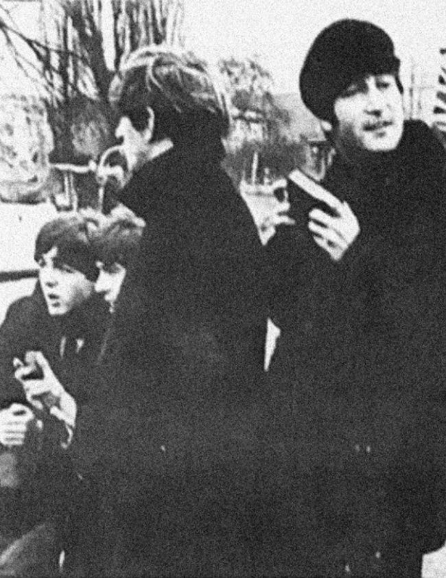 The Beatles outside