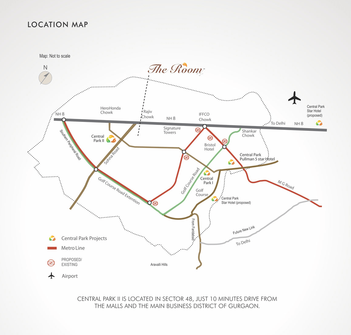 Central Park Ii Sector 48 Gurgaon Location Map Of