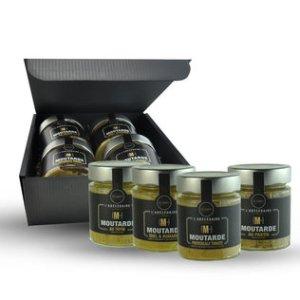 Coffret cadeau 4 moutardes ABC Culinaire