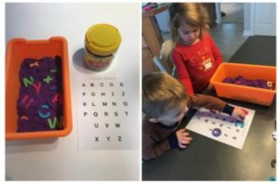 Kinetic Sand Letter Search
