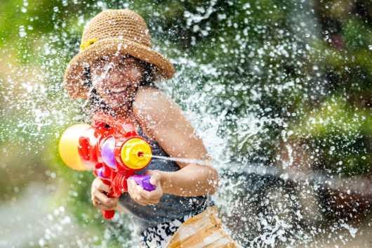 water gun game field day activity