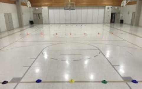 dodgeball set up