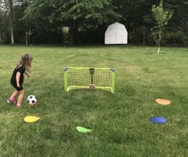 5 year old soccer spot shot