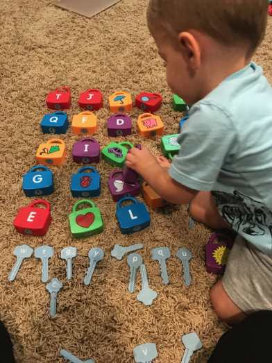 Learning locks upper and lower case alphabet