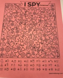 i spy worksheet for kids christmas parties