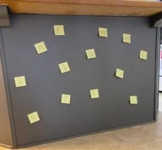 post-it alphabet activity