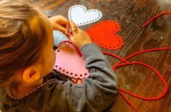 lacing shapes fine motor activity