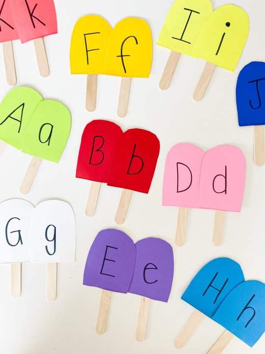 popsicle letter match