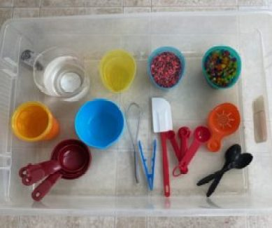 pouring practical life and fine motor activity