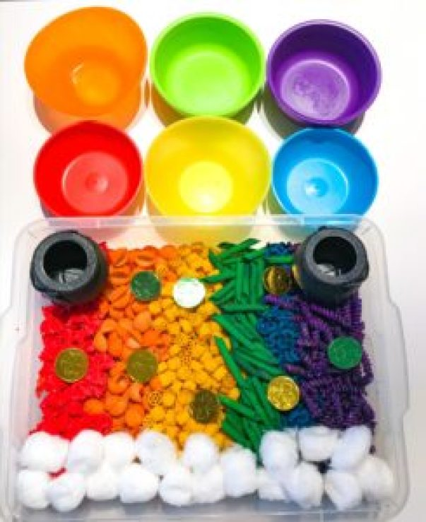 rainbow pasta activity
