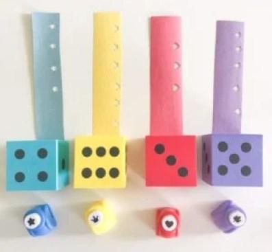 foam dice activity