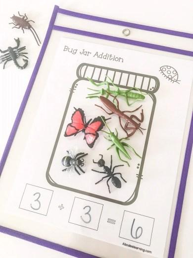 bug math worksheet