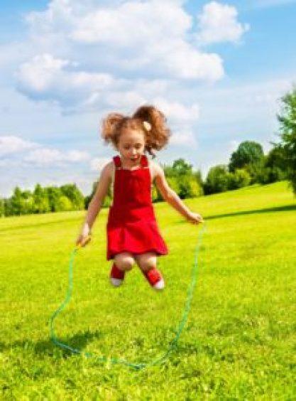 girl jump roping