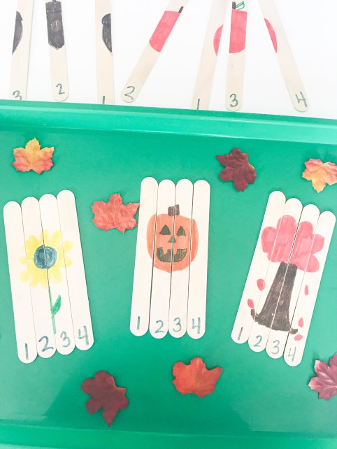 popiscle stick number shapes