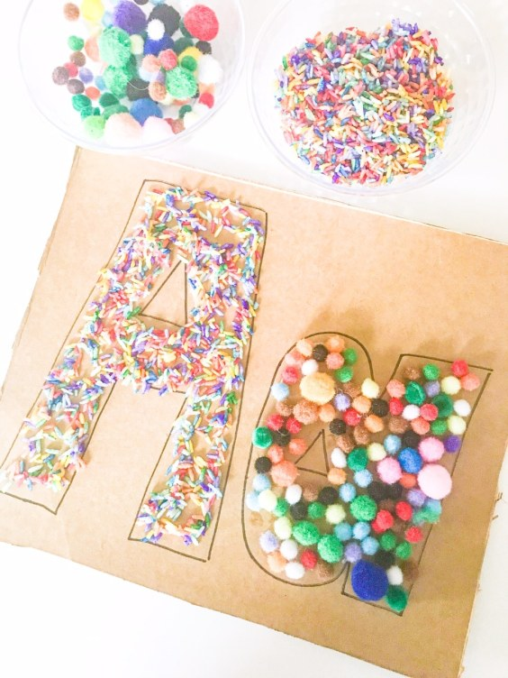 A letter fill activity